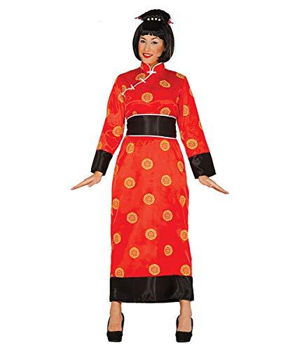Horror-Shop Roter Geisha Kimono für Fasching & Karneval ()