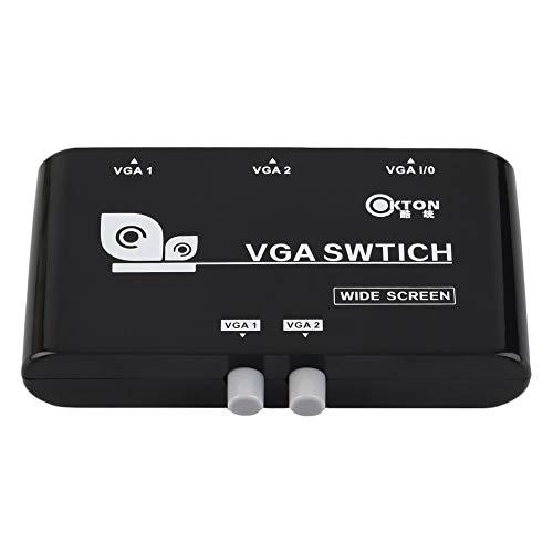 Mouchao 2-in-1-out-VGA/SVGA-Auswahlschalter für manuelle Freigabe Umschaltbox für LCD-PC - Svga Lcd