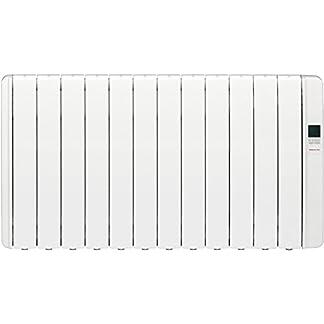 Gabarrón RKS12L Emisor de inercia térmica, sin Fluido, Digital programable, 1500 W, Blanco RAL9010