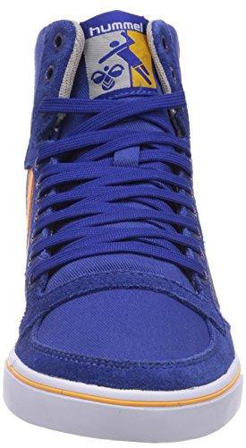 Hummel HUMMEL SL STADIL CANVAS HI, Baskets hautes mixte adulte Blue (Limoges Blue)