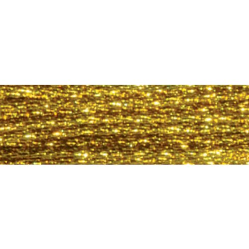 Dark Gold DMC Light Effects Embroidery Floss 8.7 Yards 317W-E3852 - Viskose Importiert