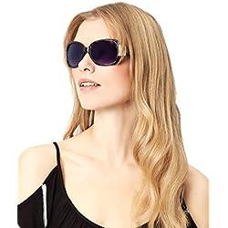 Accessorize Damen Ellen Wickel-Sonnenbrille in Leopardenoptik - Einheitsgröße
