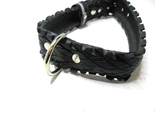 Handmade Hundehalsband aus Fahrradreifen (upcycling). Halsumfang von 42cm - 50cm. Robust ! - 3