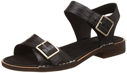 Clarks Cabaret Glitz, Damen Slingback Sandalen, Schwarz (Black Leather), 37.5 EU (4.5 Damen UK)