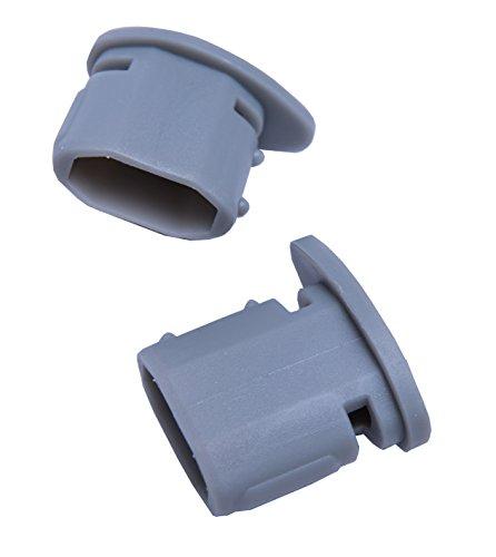 Connex Regalelement Endstopfen für Kleiderstange, 35 x 20 mm, grau, 2 Stück, Kunststoff, 2 x 2 x 3.5 cm, 2-Einheiten