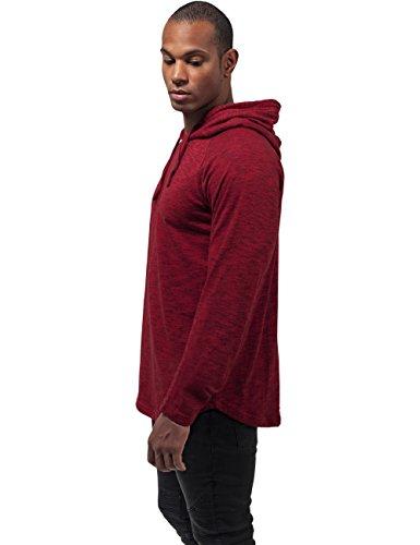 Urban Classics Melange Shaped Hoody Sweat à capuche rouge/noir rouge/noir
