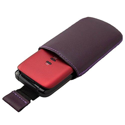 caseroxx Slide-Etui Handy-Tasche für Doro Primo 401 aus Kunstleder, Handy-Hülle in lila