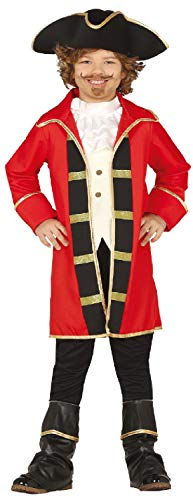 Boys Red Pirate Captain TV Film Cartoon World Book Day Week Fancy Dress Costume Outfit (5-6 ()
