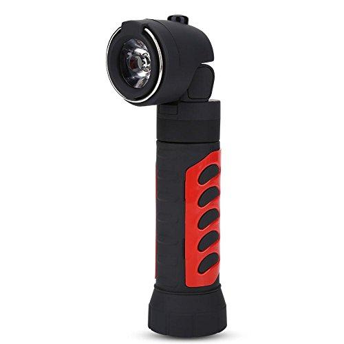 Torcia a led portatile ultraluminosa con magnete design telescopico e 2 torce tattiche motorizzate per emergenza campeggio(red)
