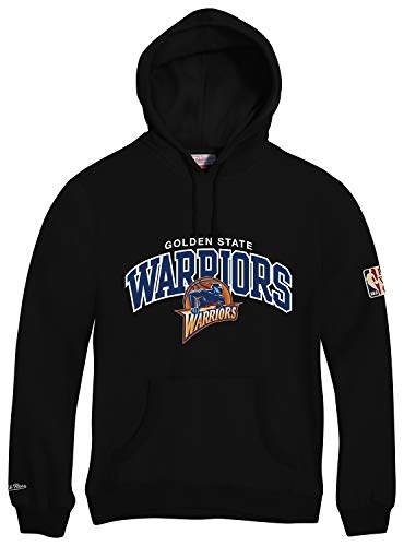 Mitchell & Ness Golden State Warriors HWC Arch Logo Hoody Black Hoodie Sweater Herren Mens -