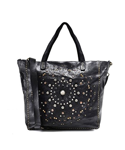 Campomaggi-Womens-Embellished-Leather-Shopper-Bag-Black