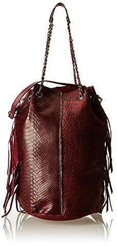 Aridza Bross Sally, Sac porté épaule - Rouge (Bordeaux), Taille Unique