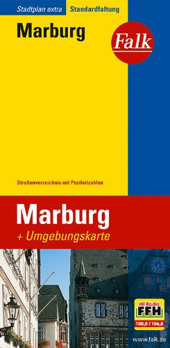 Falk Stadtplan Extra Standardfaltung Marburg