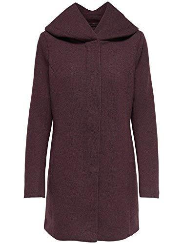 ONLY Damen Mantel Jacke onlSEDONA Light Coat Parka Übergang Herbst (M, Weinrot (Chocolate Truffle))