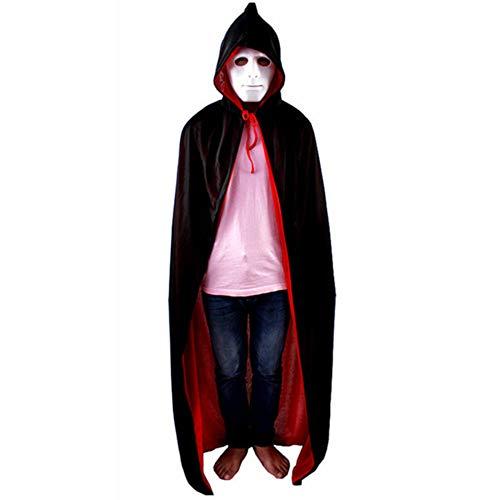 Adzpa mantello per adulti in costume di halloween mantello da vampiro a doppio lato rosso nero,02-150cm-onesize