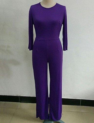 GSP-Combinaisons Aux femmes Manches ¾ Soirée / Travail Polyester Moyen Micro-élastique black-xl
