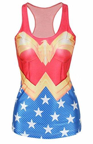 Canotta da donna, motivo: Wonder Woman, taglia 40, 42, 44