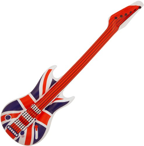 10 Large inflatable guitars.GB.UNION JACK,106CM.discos,partys, for sale  Delivered anywhere in Ireland