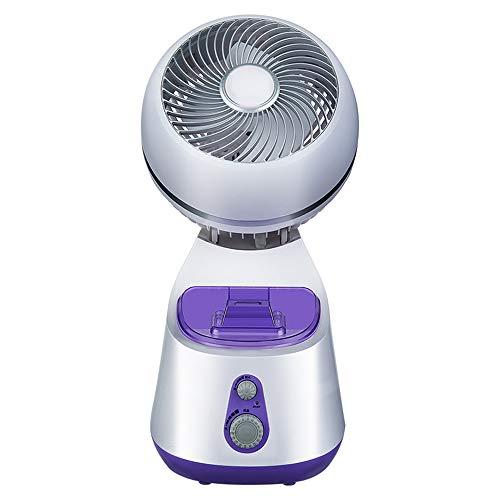 KKDWJ Kühlung Tischlüfter-Luftumwälzpumpe Diffusor für ätherisches Öl 45 ° -Drehzahl 3 Geschwindigkeits-tragbarer persönlicher leiser Ventilator für den Heimarbeitsplatz -
