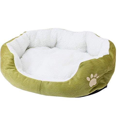 Kentop Hundebett Weiche Baumwolle Welpen Nest Katzenbett Haustierbett Faltbare Hundebett Katzenbett Baumwolle Pet Bett Kissen Waschbar