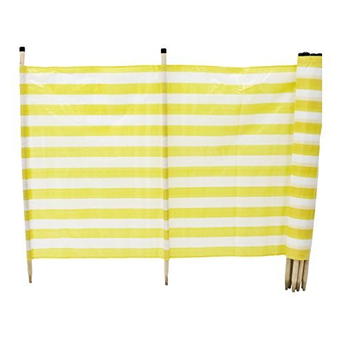 Strand-Windschutz, 6 x 1,2 Meter, 10 Pfähle