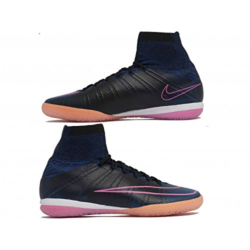 Nike Mercurialx Proximo Ic, Chaussures de Football Homme Noir - Negro (Negro (Black/Black-Pink Blast-Rcr Bl))