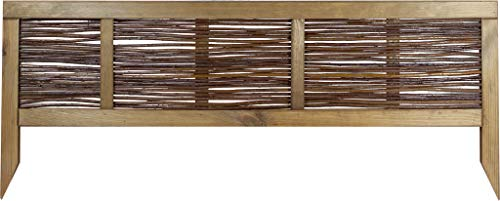 Windhager Beeteinfassung Weide gerahmt, Beetumrandung, Weidezaun, Gartenzaun, Rasenkante, Palisade, Braun, 100 x 25 cm, 06907