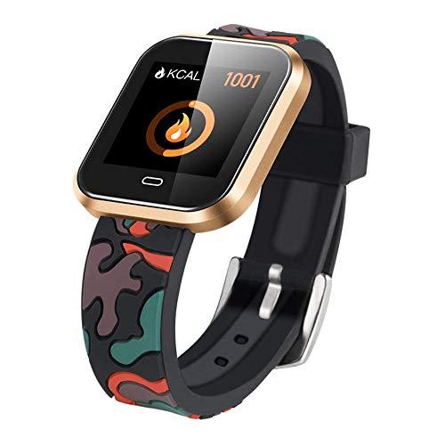 IRVING Fitness Tracker Wasserdichter Aktivitäts-Tracker mit Herzfrequenz-Blutdruckmessgerät, Farbbildschirm Smart Wacth mit Schlaf-Kalorienzähler, Schrittzähler-Uhr für Kinder, Frauen, Männer