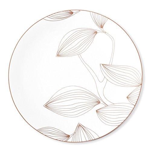 Bruno Evrard Assiette plate en porcelaine 27cm - Lot de 6 - OLYMPE