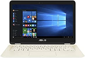 Asus Zenbook Flip UX360CA-C4020T 33,78 cm (13,3 Zoll Full HD) Notebook (Intel Core M3-6Y30, 8GB RAM, 128GB SDD, Intel HD, Windows 10 Home) gold