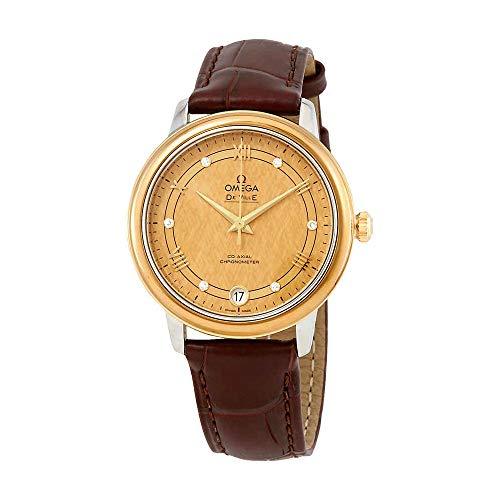Omega De Ville Automatic Diamond Champagne Dial Ladies Watch 424.23.33.20.58.001