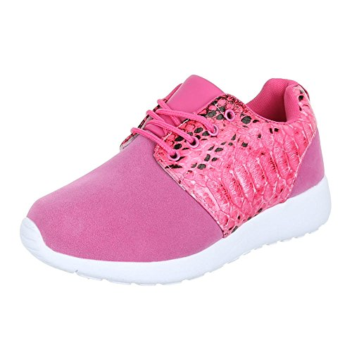 Damen Schuhe Trendige Sportschuhe Freizeitschuhe Pink