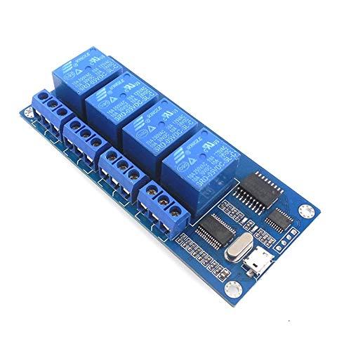 ARDUTE HW-344 Relais-Bedienfeld für 5-V-Relay-Relais mit Anzeigerelais-USB-Eingang -