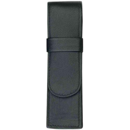 Alassio 2610 Schreibgeräteetui für zwei Stifte Leder schwarz 2610