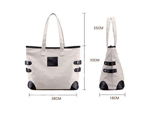 Donne Borsa A Tracolla A Mano Canvas Bag Abbigliamento Casual Panno Borsa Sacchetto Del Messaggero Blue