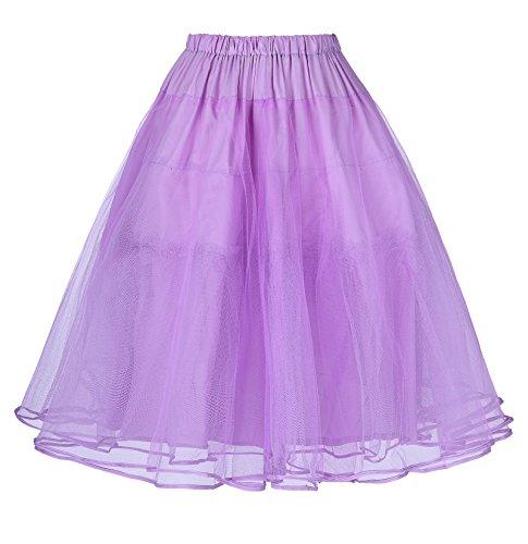 vintage petticoat unterrock rockabilly rock damen knielang reifrock brautkleid XL BP229-8 (Brautkleid Petticoat)