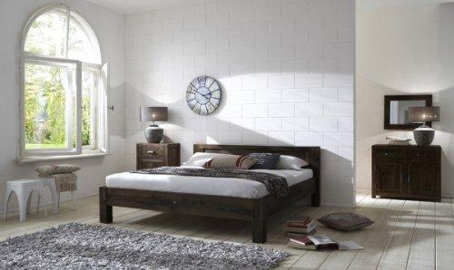 SAM® Palisander Massiv Holzbett Wiam 140 X 200 Cm Stone Sheesham Vollholz  Bett Aus Massivem