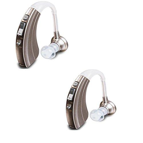 Hörverstärker VHP-220 Klangverstärker Einstellbarer Ton Hörgeräte Hörgeschädigte Hörgeräte - Passend für linke und rechte Ohren , Pair(Two ears)
