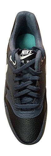 Nike Air Max 1 (Gs) Jungen Low-Top black ivory dark magnet grey 017