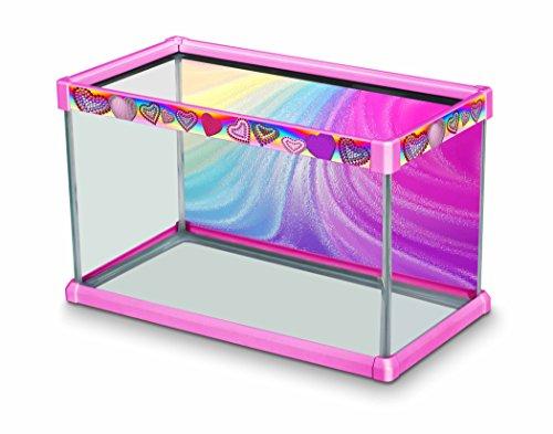 Elive Bedazzled Heart Aquarium-Dekorationsrahmen-Set mit Hintergrund, für ca. 10 l Aquarien, 50,8 x 25,4 x 30,5 cm, Rosa -