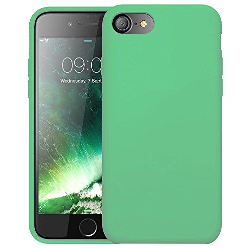 "First2savvv iPhone 7 4.7. iPhone 8 4.7 "" Stoßdämpfende Hülle Case Schutzhülle Silikon Case Durchsichtig iphone 7 -XJPJ-I7-4.7-C02 Cyan Silikon Hülle-4.7"