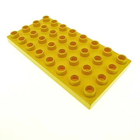1 x Lego Duplo gelbe Bauplatte Grund Platte 8 x 4 Noppen gelb Puppenhaus 4672 F36