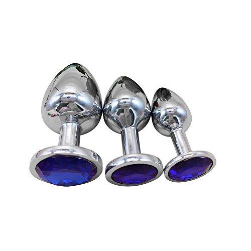 Sexspielzeug für Paare, Frauen Analplug, Erotik Spielzeug Für Frauen/Männer Analplug,3er Runder Sockel mit Schmuck Geburt Stone Butt Anal Spiel Rose Jewel Sex -