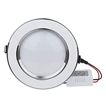 Bloomwin Spot Encastrable LED, 10pcs 3W 300lm 220V LED Spot Encastrable Plafonnier Ultra Plat Blanc Chaud pour resto, boutiques, exhibitions, salons etc.