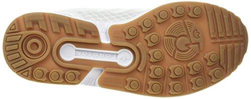 adidas Herren Zx Flux Low-Top Weiß (Ftwr White/Ftwr White/gum)