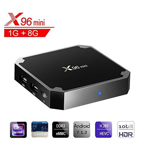 X96 Mini Smart TV Box Android 7.1 1GB RAM + 8GB EMCC AMLOGIC Quad Core 2.4GHz WiFi 4 K Smart Set Top Box