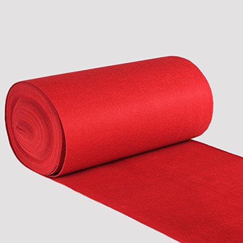 Jeteven 1x5m/10m/12m Roter Teppich Eventteppich VIP Carpet Läufer hochzeitsteppich Polyester Red Carpet Hochzeit Deko Einweg (12x1m)