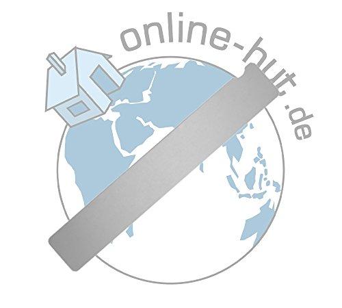 online-hut Edelstahl Board für Wechselfeilen/-buffer Extrabreit