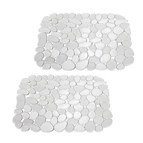lbeckenmatte aus Kunststoff - auch als Abtropfmatte nutzbar - zuschneidbare Schutzmatte gegen Kratzer im Spülbecken - mit Kieselstein-Muster - durchsichtig ()