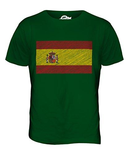 CandyMix Spanien Kritzelte Flagge Herren T Shirt Flaschengrün